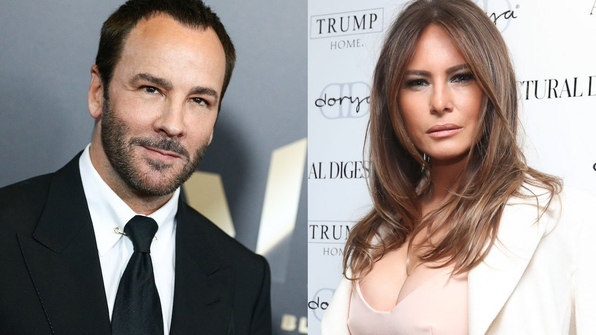 Image result for Melanie Trump against Tom Ford