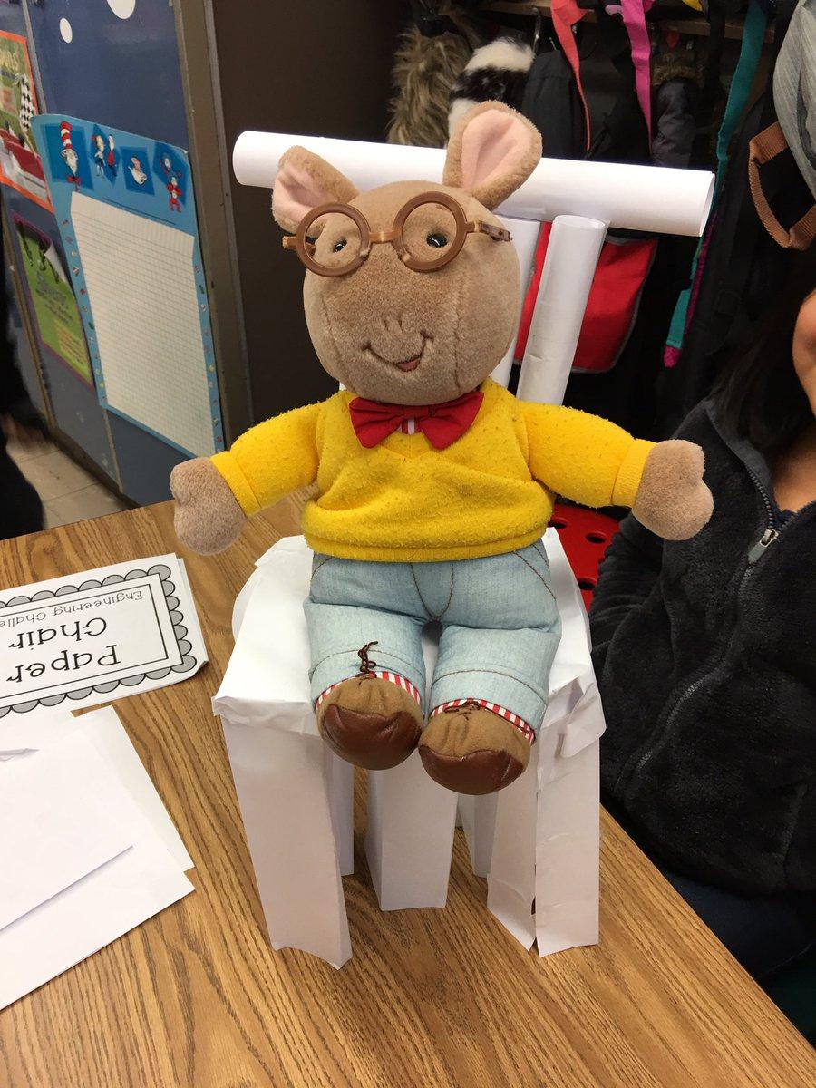 K Holub On Twitter Stem Paper Chair Challenge 3rd Grade Arthur