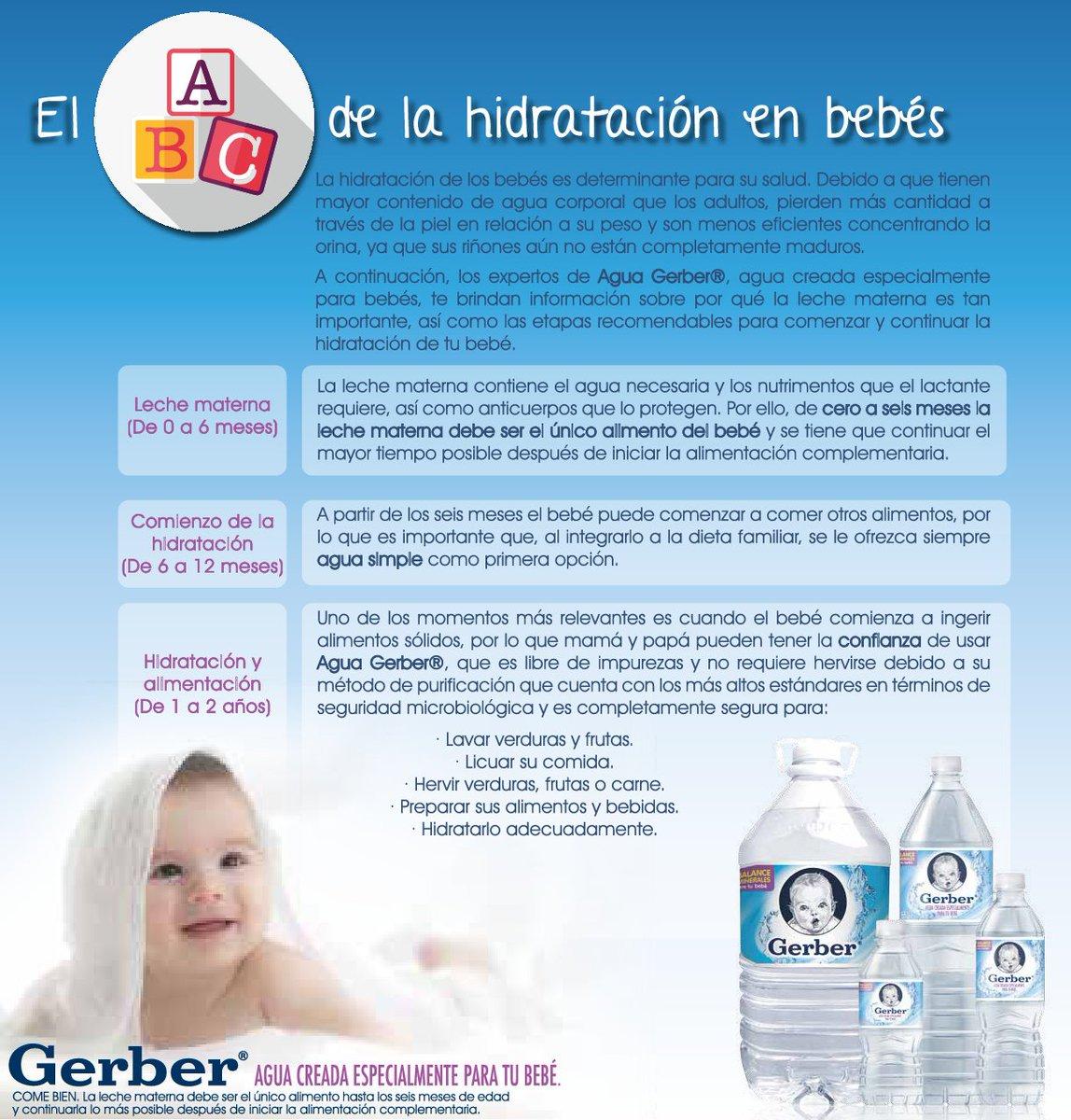 a que mes se le da agua al bebe