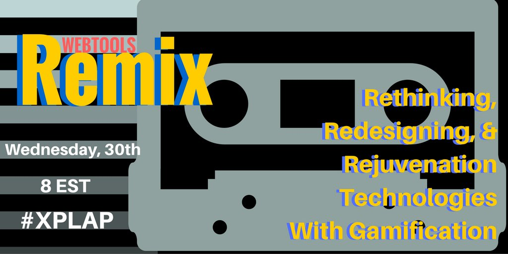 15 min till #XPLAP!  Can't wait to remix webtools with this creative crew!  Join us! #tlap #edchat #gbl #gamification https://t.co/4DdVYYhZ1H