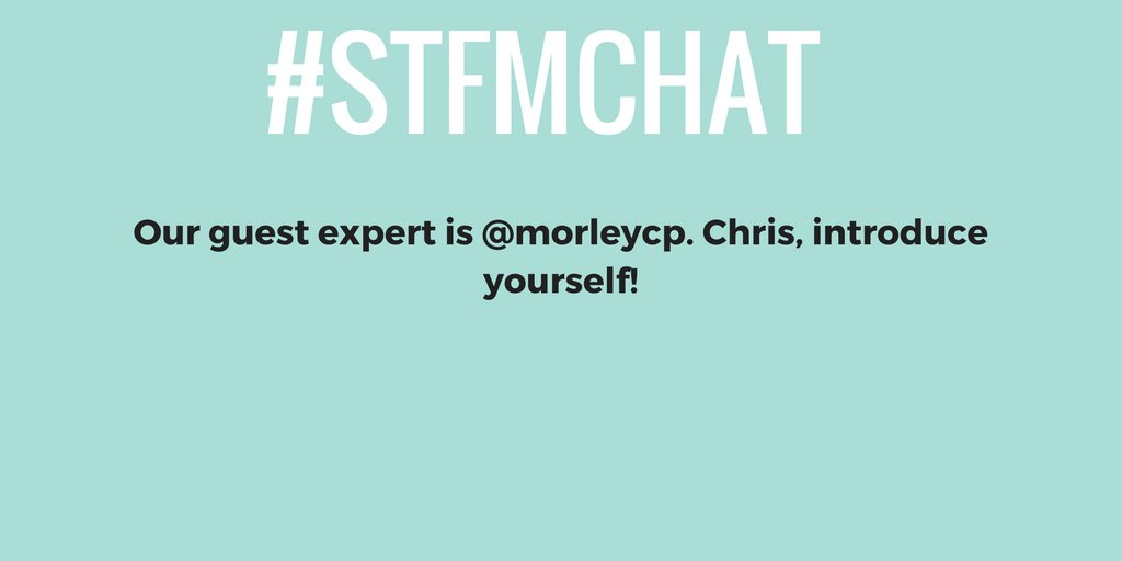 Welcome everyone to the #STFMchat! We're talking #familymedicine research with @morleycp. Take a moment and introduce yourselves. https://t.co/5hWpsAWg7t