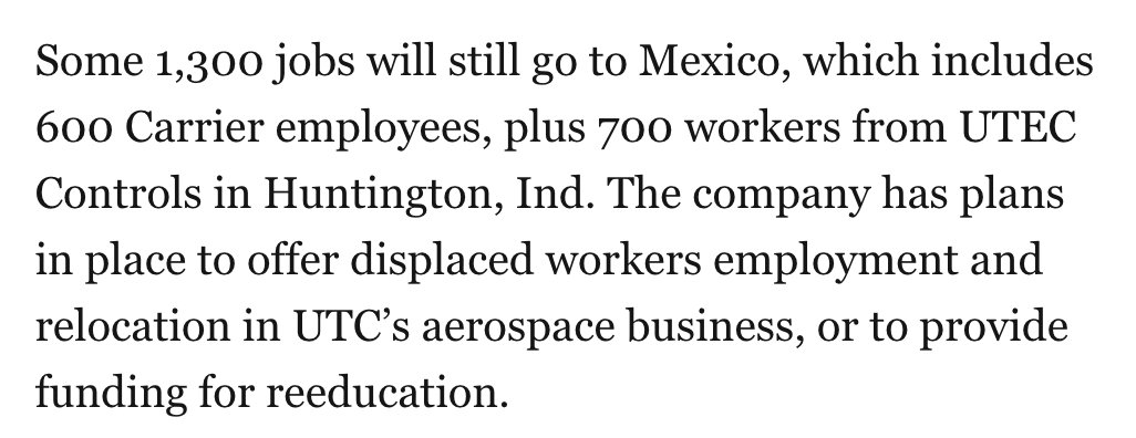 BTW, 1,300 jobs are still going to Mexico. https://t.co/KEYReELgoX
