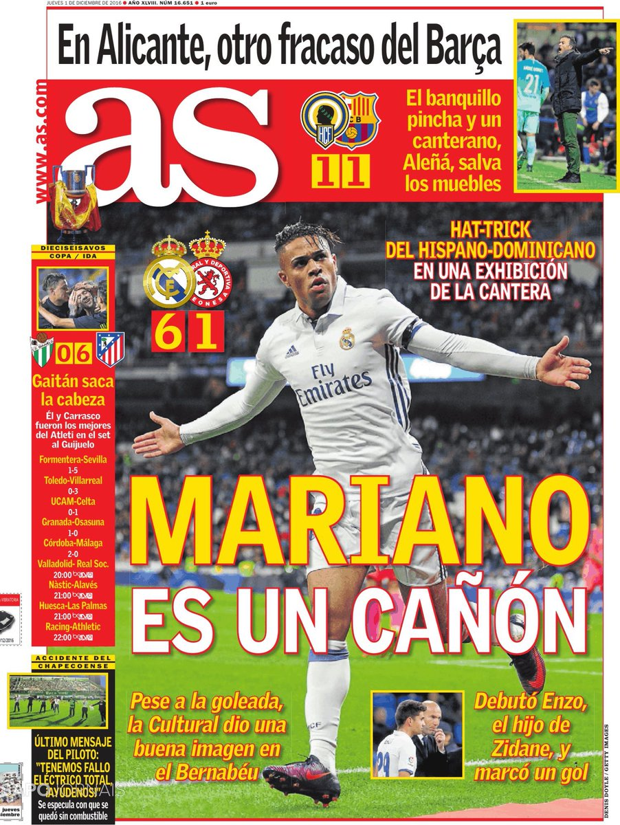 Sb On Twitter As Cover Mariano Is A Cannon Hat Trick For The  # Muebles Villarreal