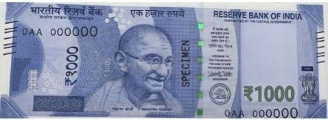 1000rs currency note