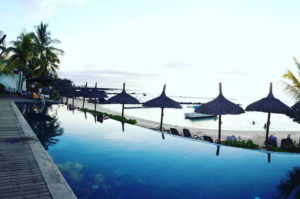Awesome view from the pool. #recifattitudehotel #recifattitude #Mauritius #holiday  #mauri… http://ift.tt/1qGuSlz