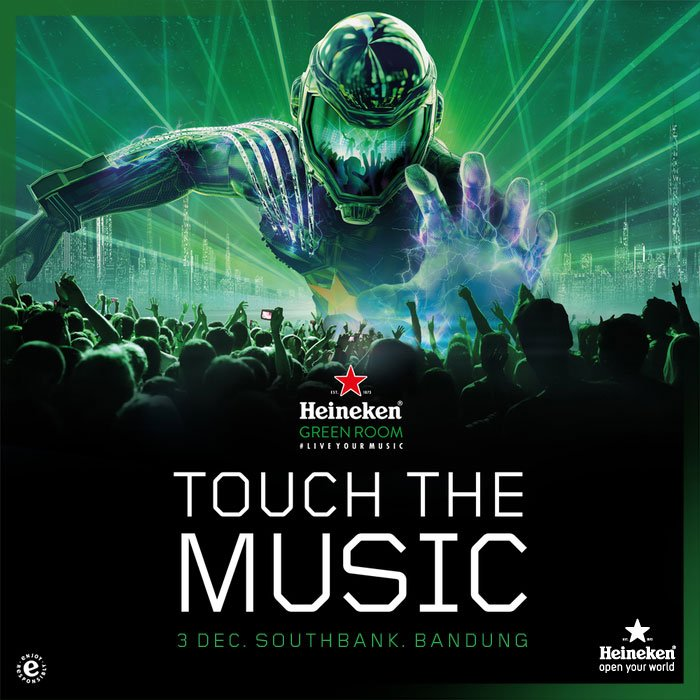 Mark your date this Saturday night because you must join the final #HeinekenGreenRoom in Southbank Bandung. Let's #TouchTheMusic together! https://t.co/rXTo2gDuAb