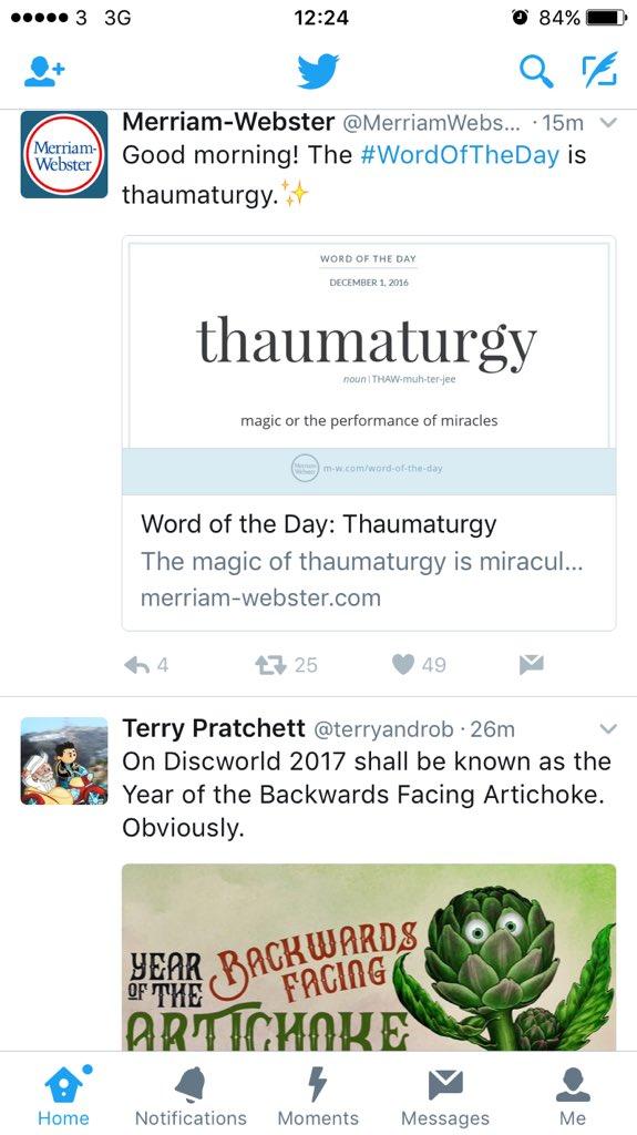 thaumaturgy hashtag on Twitter