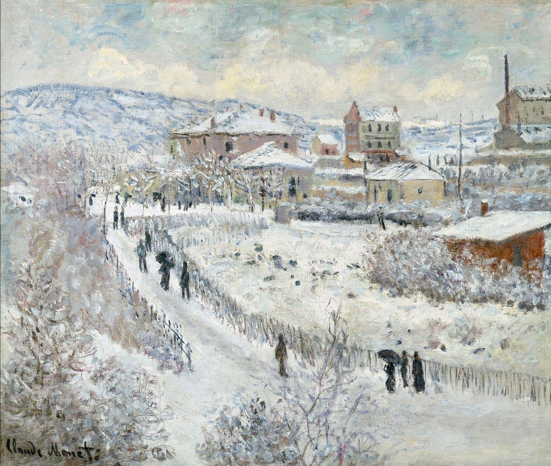 """Ella 🇮🇹 trên Twitter: """"MONET Vista di Argenteuil nella neve 1875  paesaggio come sospeso e delicatezza di quelle figurine #ArtLovers  #December @Asamsakti @Biagio960… https://t.co/DLnEIA7kDA"""""""