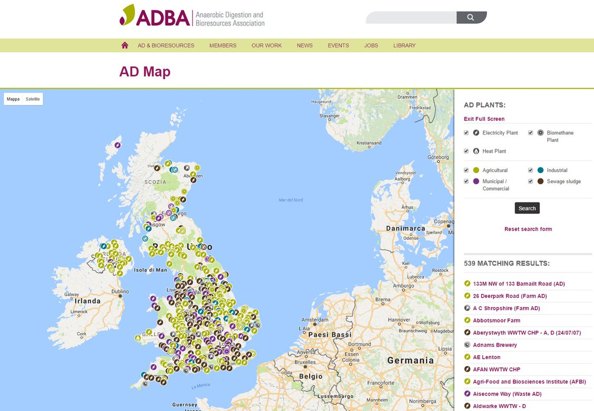 Map Of Uk 500 Ad.Biogas Channel On Twitter News Adba Releases Map Of More Than
