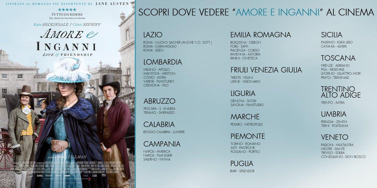 Da oggi #Amoreeinganni è al cinema. Qui sotto l'elenco delle sale dove trovarlo! https://t.co/ZBI41I2OT6