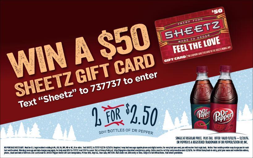 Sheetz On Twitter Sheetzrun For This 2 2 50 Deal On Dr Pepper
