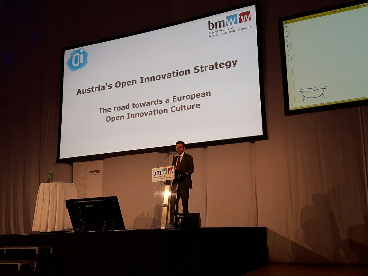 "Carlos Moedas, EU Commissioner for Research, Science and Innovation at ""Austria's Open Innovation Strategy. The road towards a European Open Innovation Cultur"""