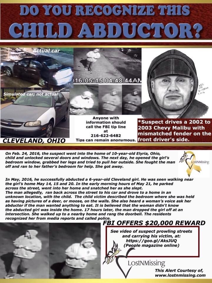 Ohio: FBI Needs Public's Help to Catch Suspected Serial 'Child Predator' Caught on Video https://t.co/NoAoSBFzx9 https://t.co/I43NPt6LIq