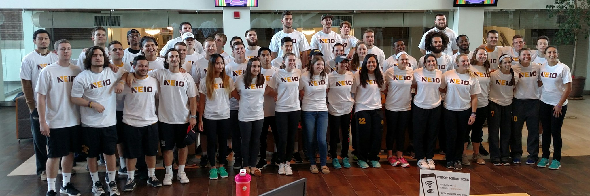 Proud to represent the @TheNortheast10 as an @AdelphiXCTrack & @AdelphiU student-athletes! #NE10Embrace @AUPanthers https://t.co/jSVCKuejUW