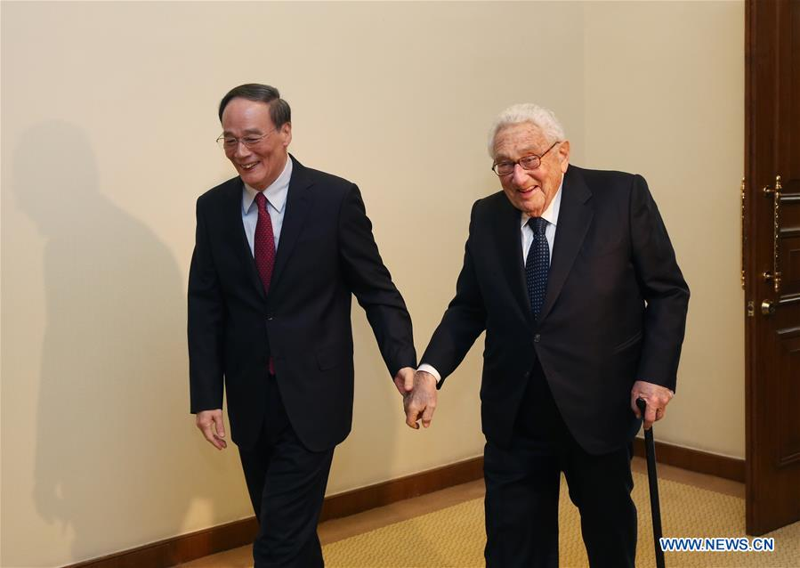 Here is a cuddly picture of Wang Qishan holding Henry Kissinger's hand https://t.co/xJ7pEKTj0N https://t.co/XW5DWZpbm5