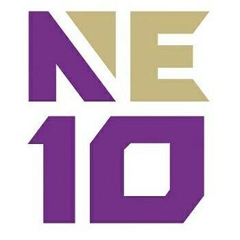 Lovin' how the new @TheNortheast10 logo looks in purple&gold! #NE10Embrace #smcpks https://t.co/WYlxpeJkjX