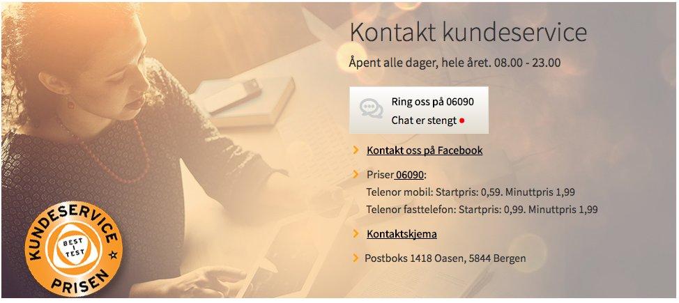 Telenor Norge As Postboks 1418 Oasen 5844 Bergen