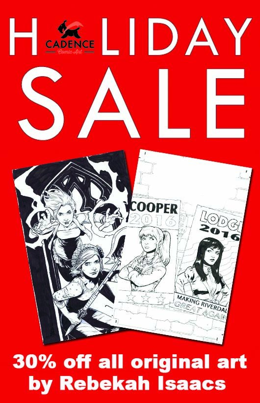 All my original art is 30% for the holidays at https://t.co/DfkWKczA0i @CadenceComicArt https://t.co/Tm1nEBNaLT