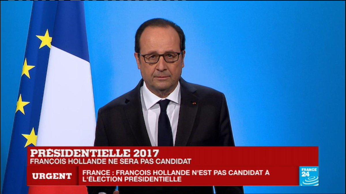 #URGENT - François #Hollande : 'J'ai décidé de ne pas être candidat à l'élection présidentielle'