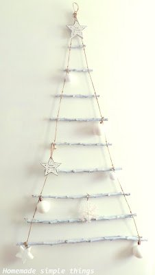 Sapin de Noël échelle avec des branches / DIY (Christmas tree ladder with branches)