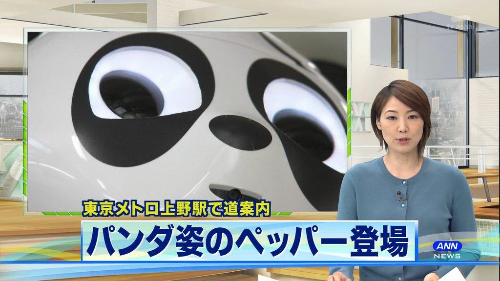 パンダ姿のペッパークンとかもう少し顔どうにかならなかったのかよこれwww