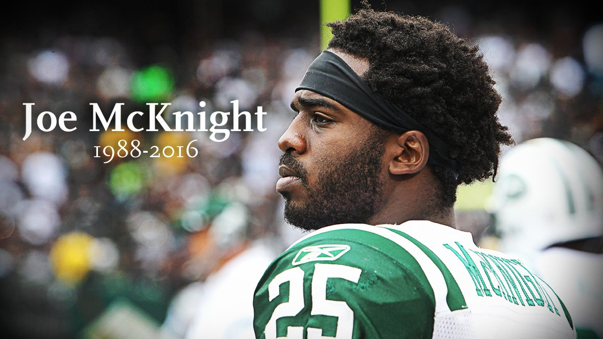 Rest in peace, Joe McKnight.   Our thoughts and condolences are with his loved ones.