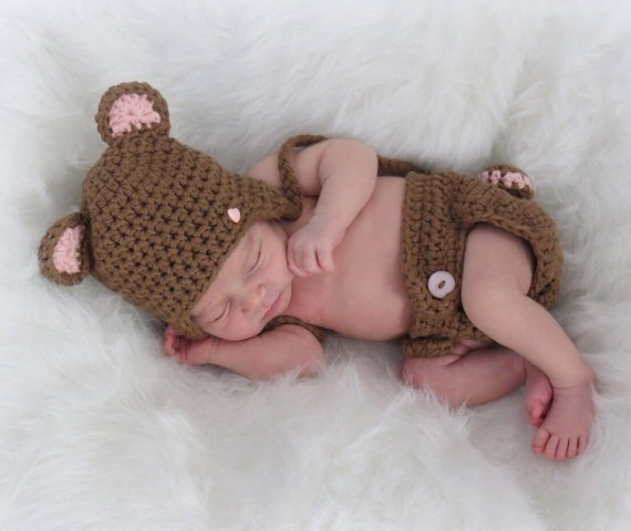 Crochet Diaper Cover Pattern, Crochet Baby Hat Pattern
