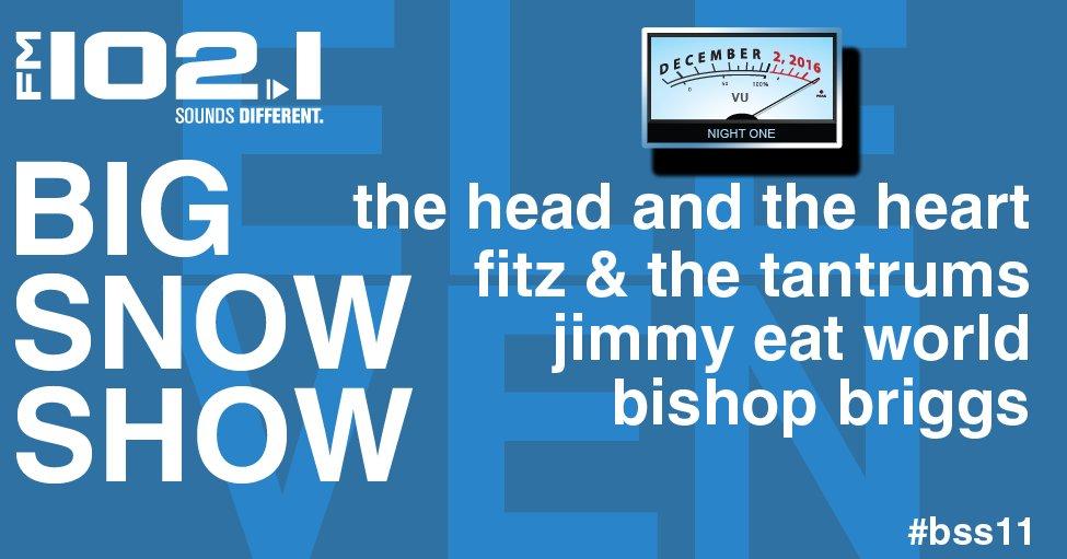 Tomorrow night. #BSS11 @therave @headandtheheart @FitzAndTantrums @jimmyeatworld @thatgirlbishop #FM1021LOVE https://t.co/jIX2GeIADi