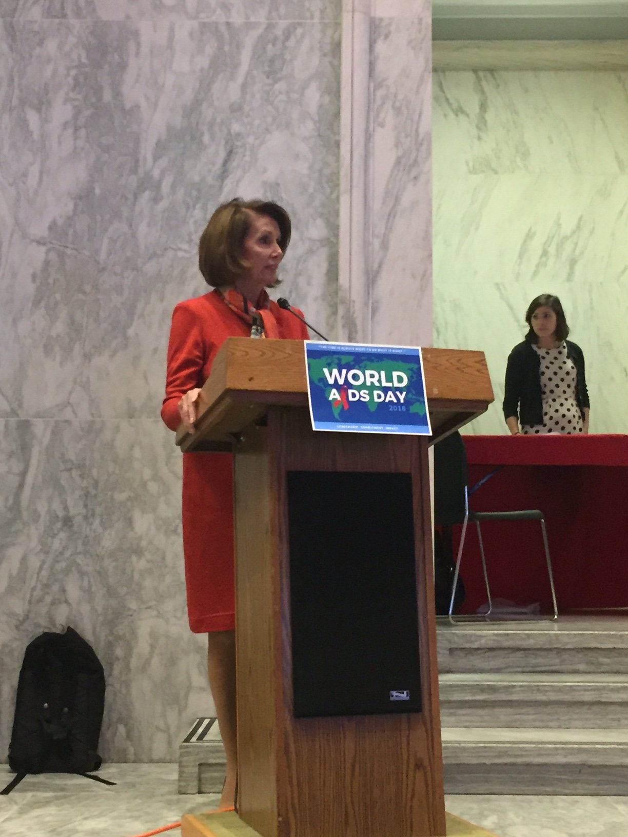 In honor of World #AIDS Day, @NancyPelosi urges us to make AIDS a distant memory. We can end this epidemic together. #WAD2016 https://t.co/uvVuWLGdHN