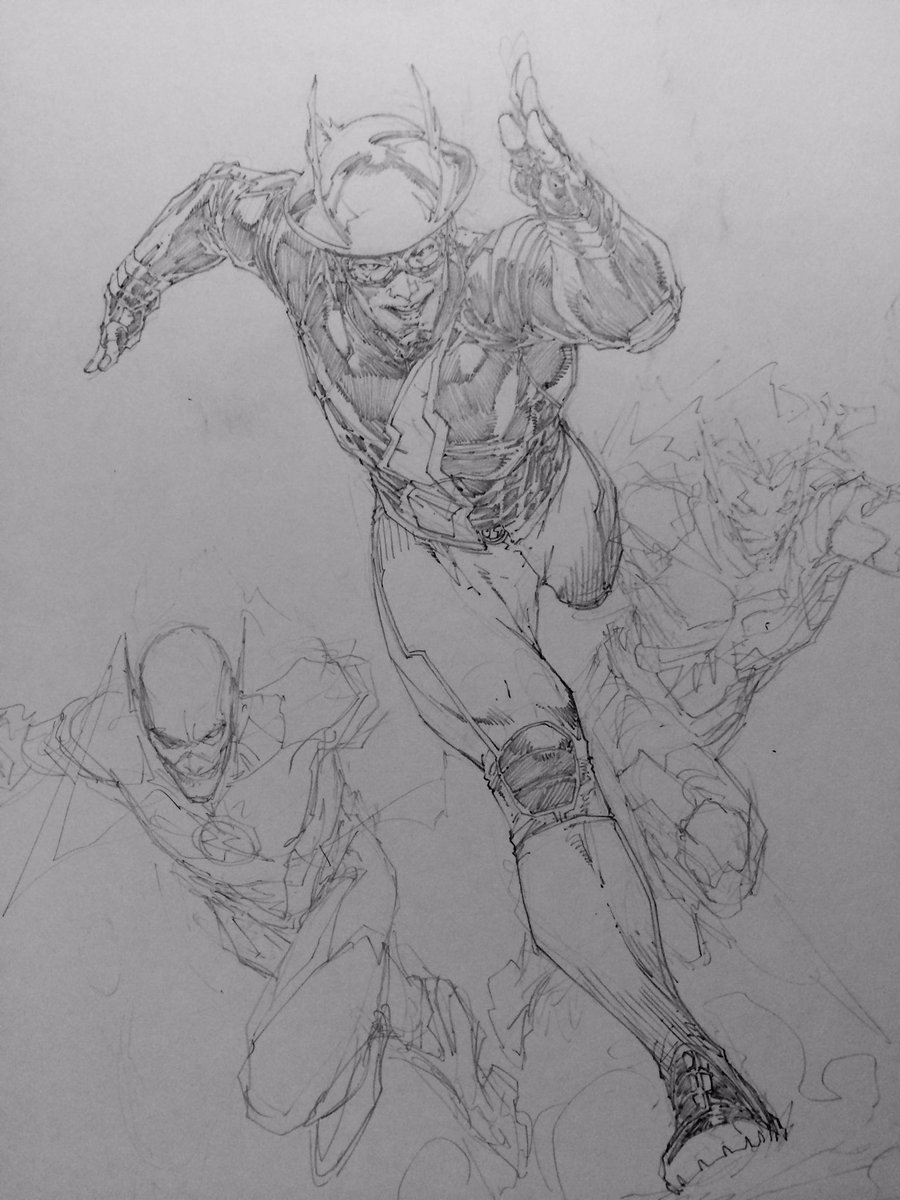 Brett Booth Is Currently Drawing Jay Garrick Barry Allen And Wally