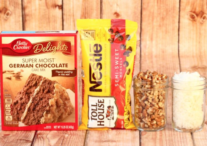 German Chocolate Cake Mix Cookies Recipe