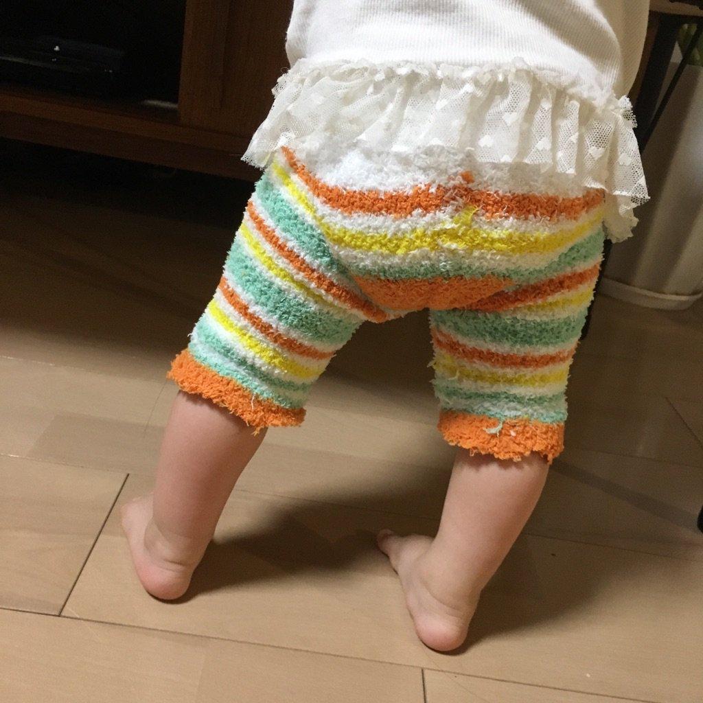 お子さんがいる方必見!百均のもこもこ靴下で温かいスパッツが作れるよ!!