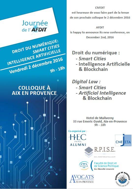 Le colloque de l'AFDIT sur les #smartcities et l'#intelligenceartificielle commence bientôt ! https://t.co/8KkdI8FTzP