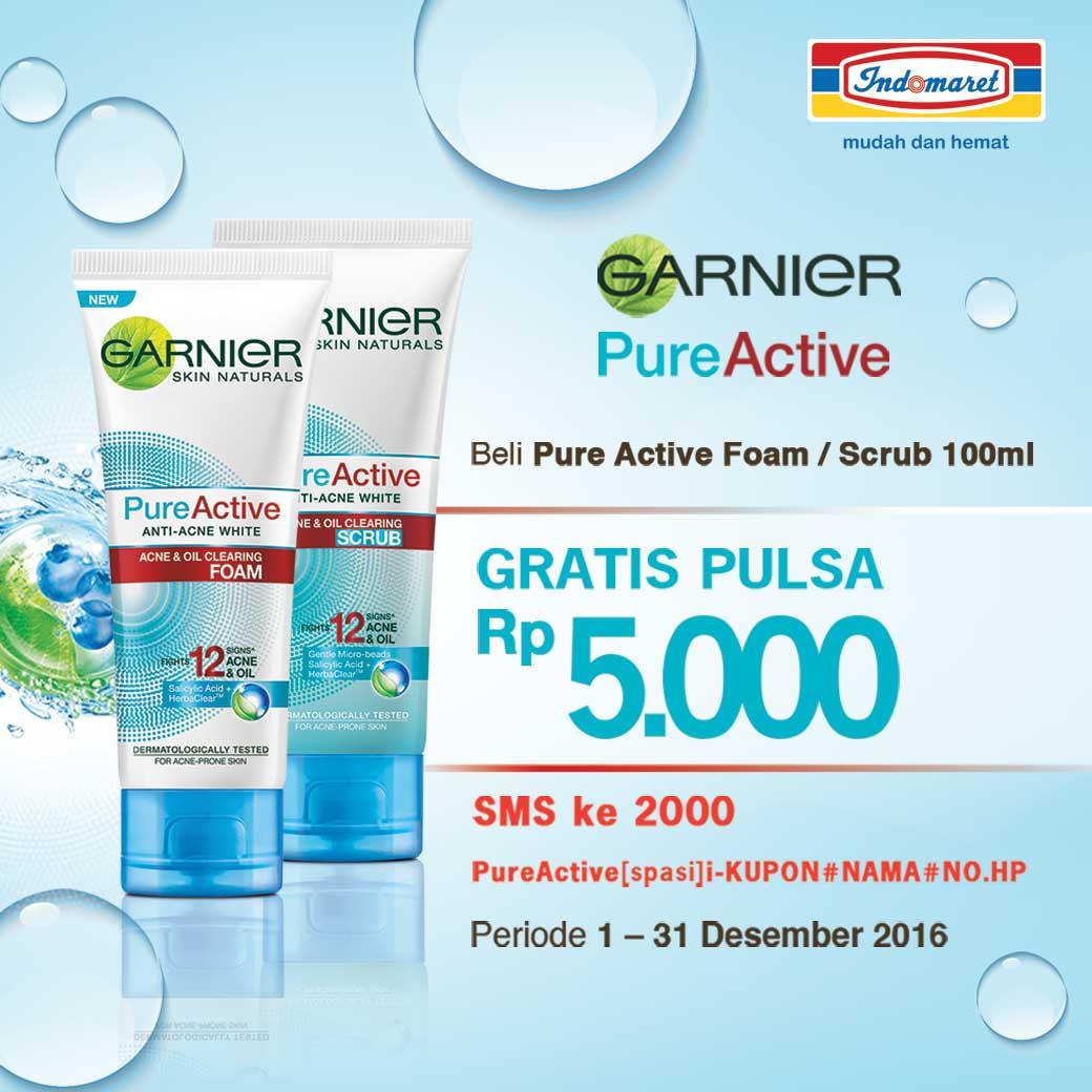 Indomaret On Twitter Dapatkan Pulsa Gratis Rp 5000 Tiap Pembelian Garnier Pure Active Acne Oil Clearing 100ml 300 Am 8 Dec 2016
