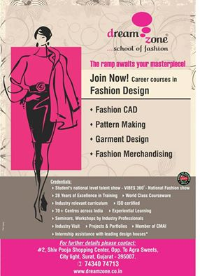 Dreamzone Surat On Twitter Pursue Your Dreams And Make A Mark In The Fashion World With The Fashion Design Course At Dreamzone Surat Admission Open Apply Now Https T Co Ckoaq6a79n