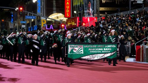 Hollywood Christmas Parade 2019.Ncss On Twitter The Pride Of Ehs Eagles Performs In 85th