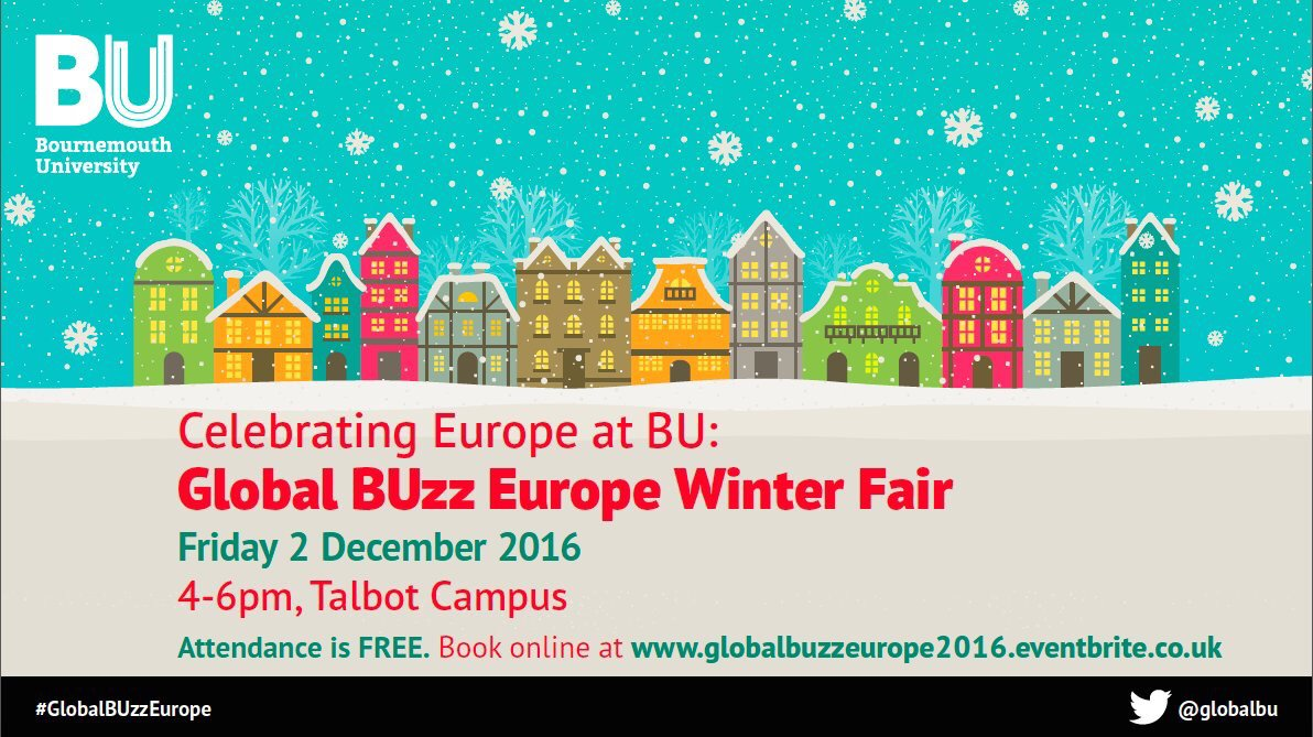Today we are celebrating everything European at @BournemouthUni this Friday Join us for #GlobalBUzzEurope at 4pm https://t.co/LNw3WLBV9Z https://t.co/QR2Z1D6w4X