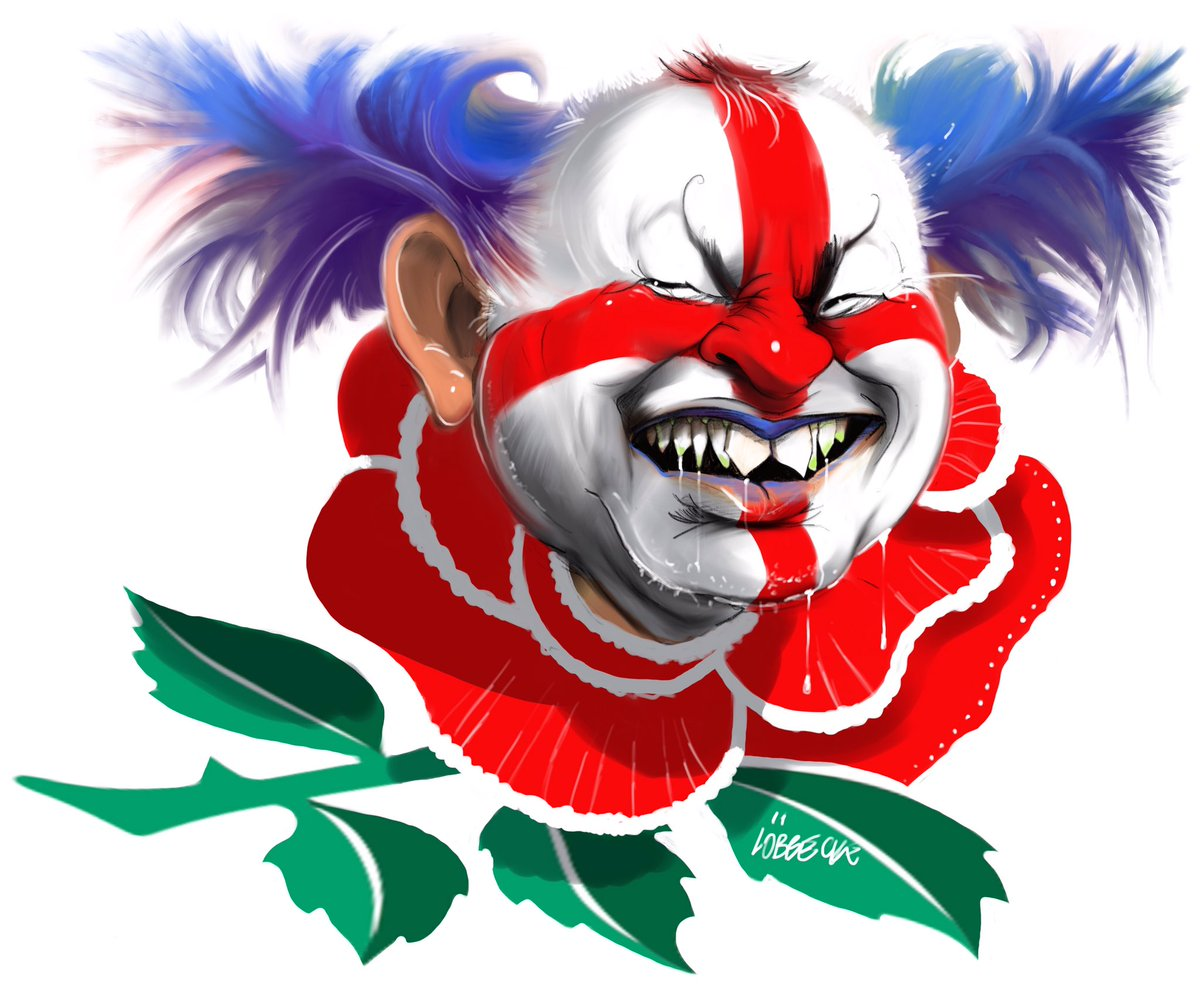 eddie jones mocked up as clown by the australian newspaper in war
