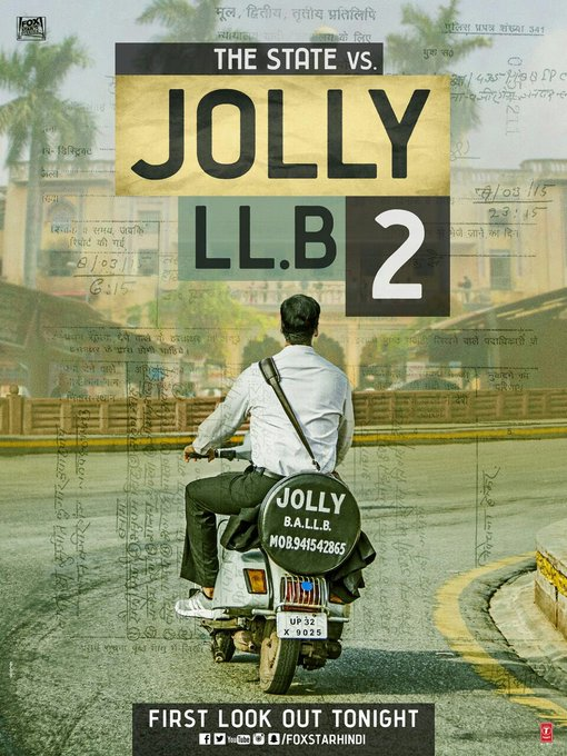 Jolly is coming!!! The first look release tonight !! #JollyLLB2 in cinemas on Feb 10 @akshaykumar @foxstarhindi https://t.co/A8anjOOl9y