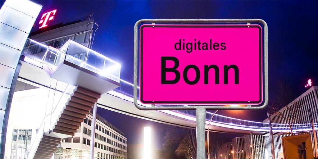 Social Media Post: #Telekom unterstützt #DigitalesBonn auf dem Weg zur sicheren...