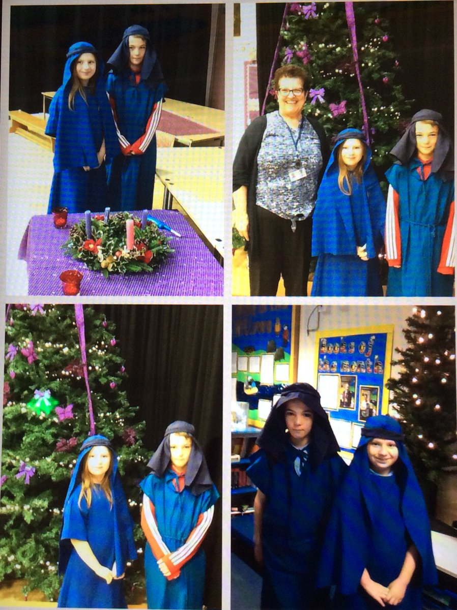 Our Mary and Joseph visited @stmarysrcmidd for assembly.