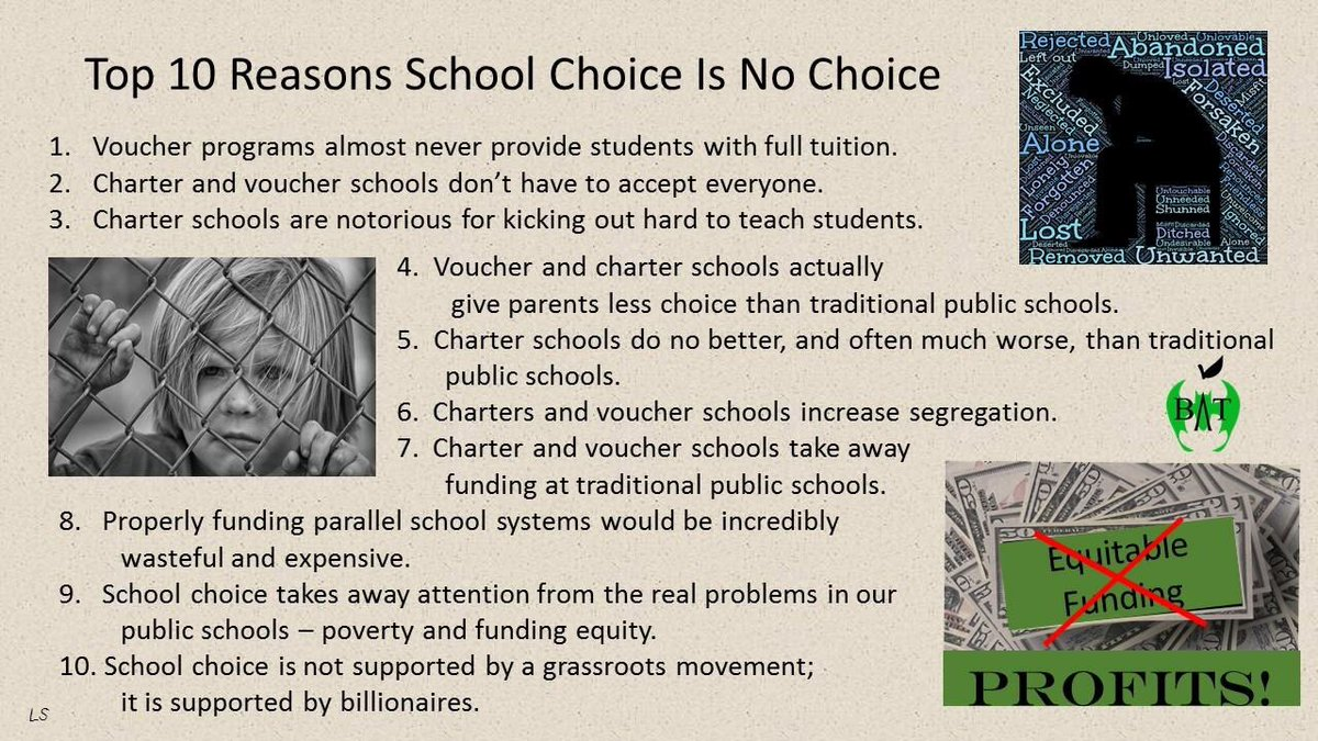 Image result for Top 10 Reasons School Choice Is No Choice