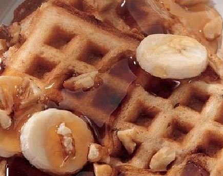 Banana Walnut Waffles