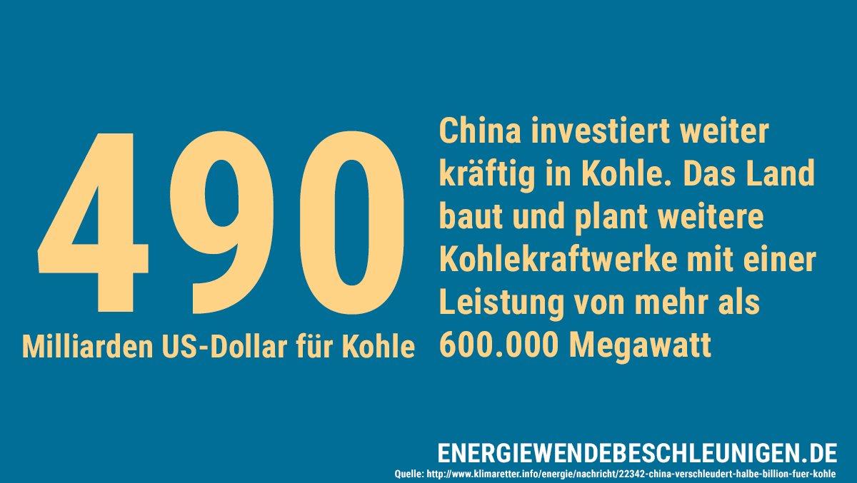 Chinas zwei Gesichter: Ausbau der #Erneuerbaren, parallel aber Milliarden für die Kohle #keepitintheground #gehtgarnicht AB