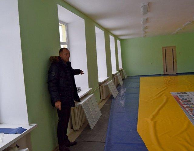 Завершается ремонт спортзала