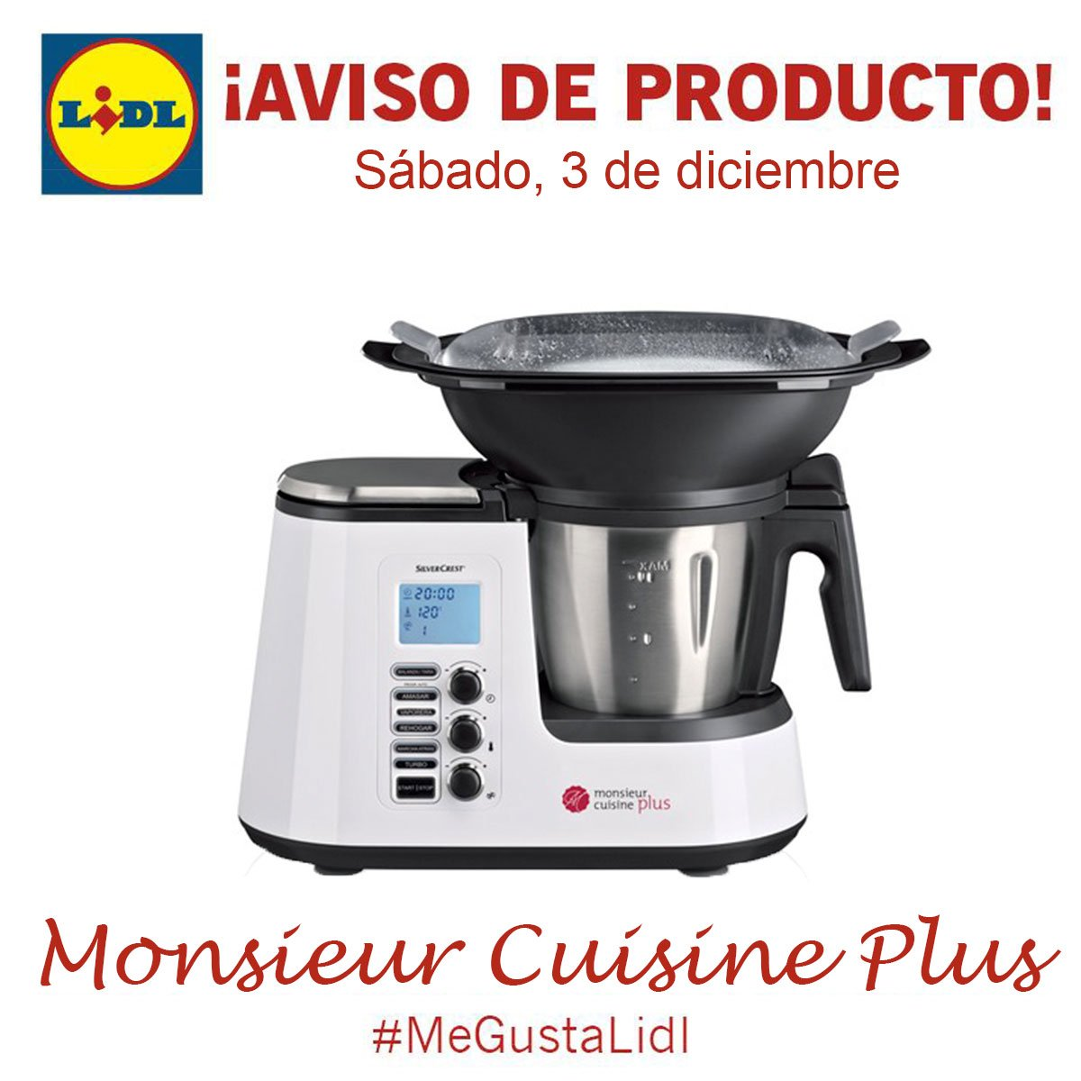 Lidl espa a on twitter atenci n ma ana s bado 3 de for Silvercrest monsieur cuisine plus