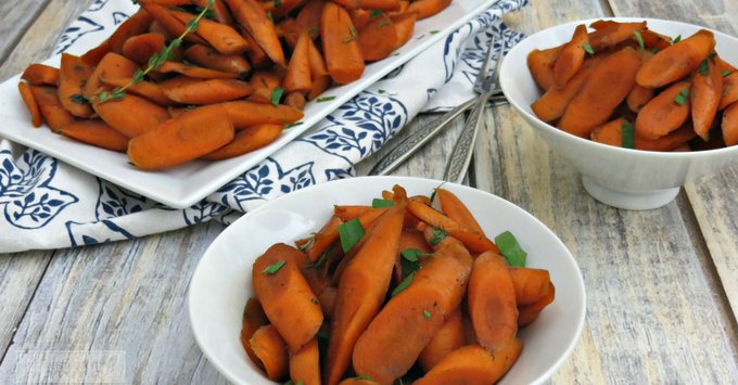 Balsamic & Maple Glazed Carrots