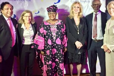 Ex- Minister of Finance, Ngozi Okonjo-Iweala, was on Thursday, December 1, honoured with the Global Fairness Award in Washington DC, United States.