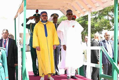 President Buhari, on Friday, December 2, 2016, has received the King of Morocco, His Majesty, Mohammed VI at the State House, Aso Rock Villa, Abuja