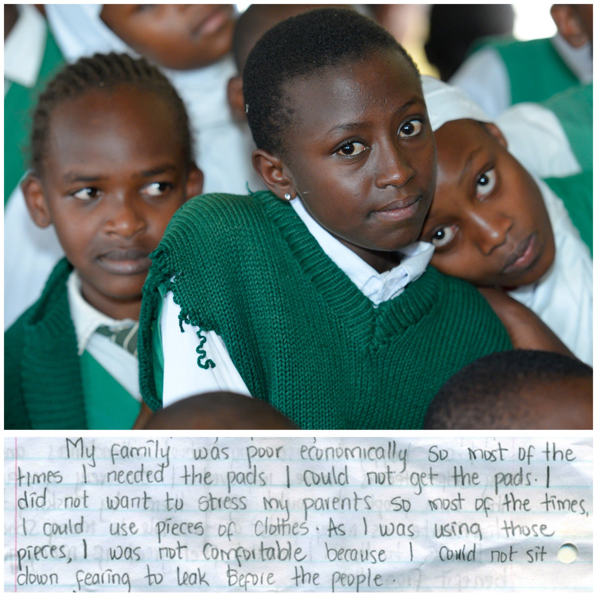 """A4: 40% of girls surveyed reported """"embarrassment"""" as a #menstruation-related factor that contributes to absenteeism... #bullying #EndSRGBV https://t.co/YhiotW9aR7"""